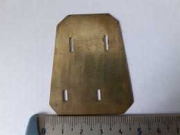 GB WWI-II Plaque De Support Pour Titre D'épaule Ou Insigne De Col - Army