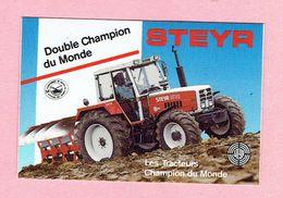 Sticker - STEYR Tractor - Double Champion Du Monde - Les Tracteurs Champion Du Monde - Stickers