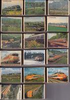 SNCF - Série De 17 Boites Allumettes - Les Grands Trains Des Années Soixante (1981) - Railway