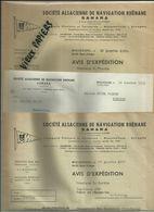 68 - Haut Rhin - Mulhouse - Sté. Alsacienne Rhénane - SANARA - Transport Par Eau - Navigation - Péniches -1952 -Réf.42 - - France