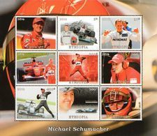 Ethiopia Äthiopien Block Ferrari Michael Schumacher  **/MNH - Cars