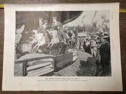 1906 ILL FETE FRANCO ANGLAISES DE BREST MANEGE FORAIN 14 JUILLET FEU D ARTIFICE - Collections