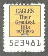 EAGLES Pop Rock Album LP Vinyl Voucher Coupon LABEL CINDERELLA VIGNETTE 1990 USA Asylum GREATEST HITS - Music