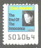 Don Henley EAGLES Pop Rock Album LP Vinyl Voucher Coupon LABEL CINDERELLA VIGNETTE 1989 USA Geffen - Music