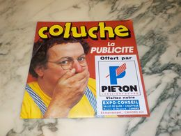 45 TOURS  45T COLUCHE LA PUBLICITE 1984 - Vinyl Records
