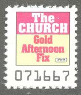 The Church AUSTRALIA Pop Rock Album LP Vinyl Voucher Coupon LABEL CINDERELLA VIGNETTE 1989 USA Arista Gold Afternoon Fix - Music