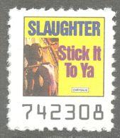 Slaughter CANADA Pop Rock Album LP Vinyl Voucher Coupon LABEL CINDERELLA VIGNETTE 1990 USA Chrystalis Stick It To Ya - Music