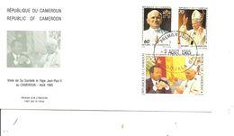 Papes - Jean -Paul II ( FDC Du Cameroun De 1985 à Voir) - Papas