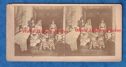 Photo Ancienne Stéréo - GOMETZ LE CHATEL ? - Carnaval - Famille Flury Herard Durand Hackenberger - Simone à Identifier - Identified Persons
