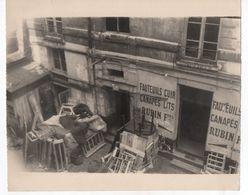 PHOTO ANCIENNE Paris A. Sergent Fauteuil Cuir Canapé Lit Rubin Frères Artisan Artisanat Immeuble 1949 Canapés Devanture - Places
