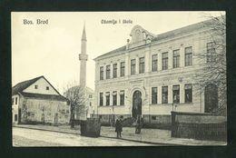 BOSANSKI BROD  MOSQUE SCHOL   BOSNIA    VF  POSTCARD - Bosnia Erzegovina