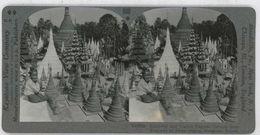 Burma Myanmar ~ RANGOON ~ Pagoda Shrines From Stairway Of Shwe Dagon 33858 900a - Stereoscopic