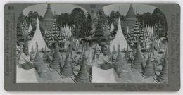 Burma Myanmar ~ RANGOON ~ Pagoda Shrines From Stairway Of Shwe Dagon 33858 900b - Stereoscopic