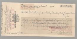1926 CHEQUE BANQUE INDUSTRIELLE DE CHINE PEKIN  N14 - Chèques & Chèques De Voyage