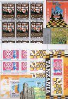 Schach Blocks **/o 42€ Schachfigur Dame Springer Turm Bauer Championat Bloque Hoja M/s Blocs S/s Sheetlets Bf Chess - Ajedrez