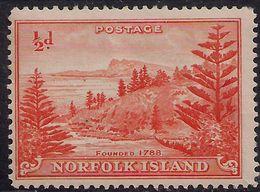 Norfolk Island 1947 KGV1 1/2d Orange MM SG 1 ( J607 ) - Isla Norfolk