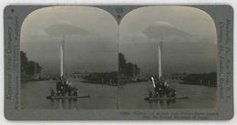 Japan ~ MOUNT FUJI ~ Rowboat Sailboat Lake Biwa Stereoview 33904 926ax - Stereoscopic