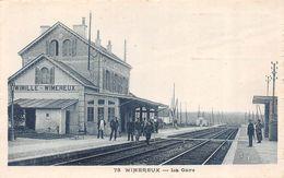WIMILLE-WIMEREUX (62-Pas De Calais) Gare-Bahnhof-Quai-Voie Ferrée-Chemin Fer-Train-Publicité Chocolat Omnia Saint-DiE - Francia