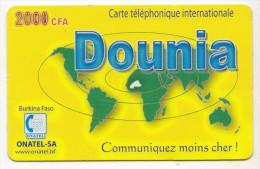 BURKINA FASO Prepayé ONATEL DOUNIA 2000 CFA - Burkina Faso