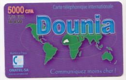 BURKINA FASO Prepayé ONATEL DOUNIA 5000 CFA - Burkina Faso