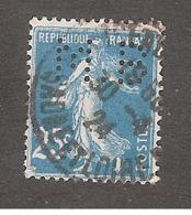 Perforé/perfin/lochung France No 140 M.B Sté Des Mines De Houille De Blanzy - Perforadas