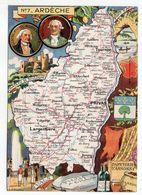 Ardèche -- Illustrateur R . Pinchon--carte Géographique Illustrée Du Département De L' Ardèche.........à Saisir - Autres Communes