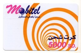 SOUDAN Prépayée MOBITEL 5 000 SD - Soudan