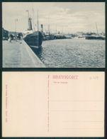 BARCOS SHIP BATEAU PAQUEBOT STEAMER [BARCOS # 02529 ] - FREDERIKSHAVN HAVNEPARTI MED PASSAGER SRIBE - Paquebots