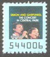 Simon And Garefunkel Concert Central Park POP ROCK Music Album LP Vinyl Coupon LABEL CINDERELLA VIGNETTE USA 1990 Warner - Musique