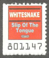 WHITESNAKE POP ROCK Slip Of The Tongue Music Album LP Vinyl Coupon LABEL CINDERELLA VIGNETTE USA 1990 Geffen - Musique