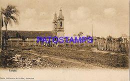 135000 PARAGUAY LUQUE VISTA DE LA IGLESIA CHURCH POSTAL POSTCARD - Paraguay