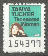 Tanya Tucker Singer Tenessee Woman COUNTRY Music Album LP Vinyl Voucher Coupon LABEL CINDERELLA VIGNETTE 1990 Capitol - Musique