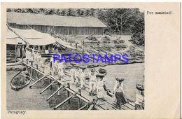 135001 PARAGUAY COSTUMES LAS LAVANDERAS LAUNDRY POSTAL POSTCARD - Paraguay