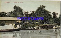 135004 PARAGUAY YERBALES CHATAS CON YERBA & BOAT POSTAL POSTCARD - Paraguay