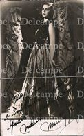 """ARTIST - Pretty WOMAN FEMME Argentinian Actress """"unidentified"""" With Autograph Hand Signed Dedicacee - Photo 1950' - Fotos Dedicadas"""