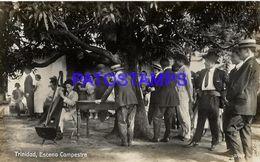 135006 PARAGUAY TRINIDAD COSTUMES ESCENA CAMPESTRE POSTAL POSTCARD - Paraguay