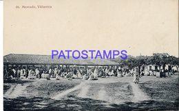 135010 PARAGUAY VILLARRICA VISTA DEL MERCADO MARKET POSTAL POSTCARD - Paraguay
