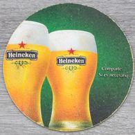 Sous-bock HEINEKEN Comparte Si Es Necesario Bierdeckel Bierviltje Coaster (CX) - Beer Mats