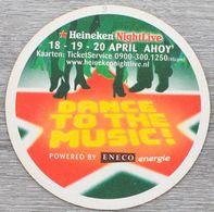 Sous-bock HEINEKEN Heineken Pilsener Premium Quality Night Live Dance To The Music Eneco Energie Bierviltje Coaster (CX) - Beer Mats