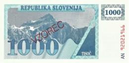 Slovenia - 1000 Tolarjev - 19 ( 92 ) - Pick: 9.s -  SPECIMEN - Slovénie
