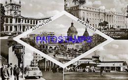 135013 PARAGUAY ASUNCION PALACIO DE GOBIERNO CALLE BANK BANCO AEROPUERTO AIRPORT MULTI VIEW POSTAL POSTCARD - Paraguay