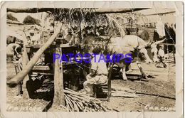 135014 PARAGUAY CAACUPE COSTUMES TRAPICHE DAMAGED POSTAL POSTCARD - Paraguay