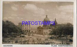 135017 PARAGUAY ASUNCION SQUARE PLAZA INDEPENDENCIA BREAK POSTAL POSTCARD - Paraguay