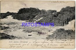 135019 PARAGUAY SALTO IGUAZU VISTA PARCIAL YEAR 1906 POSTAL POSTCARD - Paraguay