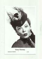 GENE TIERNEY - Film Star Pin Up PHOTO POSTCARD - 1/521 Swiftsure Postcard - Artistes