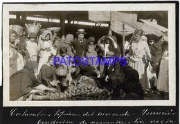 135021 PARAGUAY ASUNCION COSTUMES MARKET MERCADO VENDEDORA DE NARANJAS LA NEGRA PHOTO NO POSTAL POSTCARD - Paraguay
