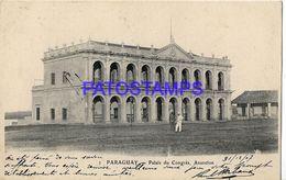 135022 PARAGUAY ASUNCION PALACIO DE CONGRESO CIRCULATED TO FRANCE POSTAL POSTCARD - Paraguay