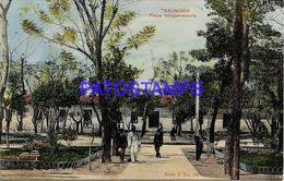 135023 PARAGUAY ASUNCION PLAZA INDEPENDENCIA CIRCULATED TO ARGENTINA POSTAL POSTCARD - Paraguay