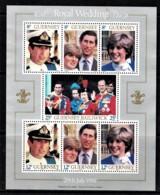 Guernsey 1981 Royal Wedding Diana & Charles Miniheet Mint No Gum - Guernsey