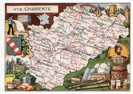 Charente-- Illustrateur R . Pinchon--carte Géographique Illustrée Du Département De La Charente.........à Saisir - Francia